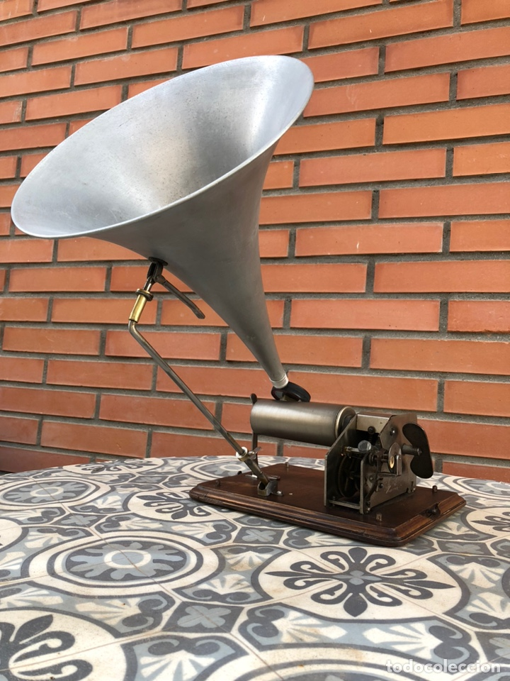 Gramófonos y gramolas: Fonografo gramófono gramóla FUNCIONANDO PHONOGRAPHE GRAMOPHONE USMO - Foto 12 - 244723170