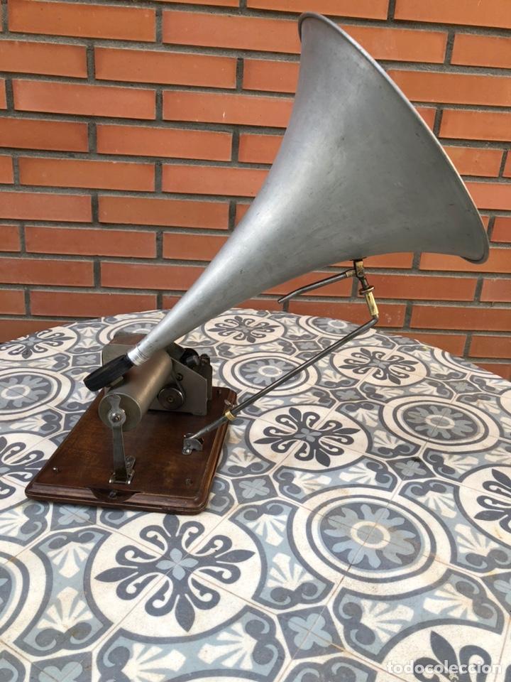 FONOGRAFO GRAMÓFONO GRAMÓLA FUNCIONANDO PHONOGRAPHE GRAMOPHONE USMO (Radios, Gramófonos, Grabadoras y Otros - Gramófonos y Gramolas)