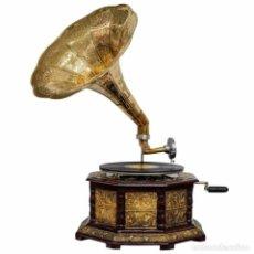 Gramófonos y gramolas: GRAMÓFONO. ESTILO VINTAGE. PERFECTO ESTADO Y FUNCIONANDO.. Lote 245051485