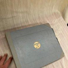 Gramophones: ALBUM CON 12 DISCOS PIZARA,DE GRAMOFONO!. Lote 253924975