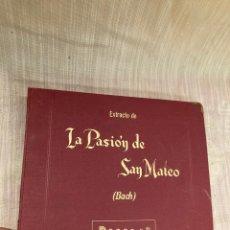 Gramophones: ALBUM DISCOS,LA PASION DE SAN MATEO!GRAMOLA!. Lote 253925255