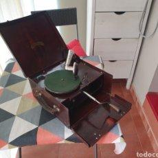 Gramófonos y gramolas: ANTIGUO RARO GRAMOFONO INDUPHON 1920 ALEMÁN. Lote 254685720