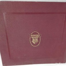 Gramophones: ANTIGUO ALBUM MARCA ODEON CON SUS DISCOS DE PIZARRA-. Lote 256027405
