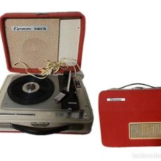 Gramophones: TOCADISCOS EUROVOX 505-S MALETA VINTAGE AÑOS 60. Lote 257269275
