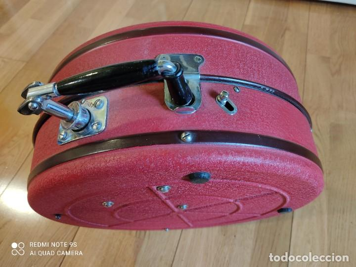 Gramófonos y gramolas: Gramófono Odeón System Vadasz. Portátil. Alemania 1930. Bauhaus. - Foto 3 - 258092375