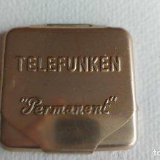 Gramófonos y gramolas: T-724.- TELEFUNKEN - PERMANENT.- CAJA DE AGUJAS FONOGRAFICAS .- CONTIENE -5 -AGUJAS , VER FOTOS. Lote 259302155