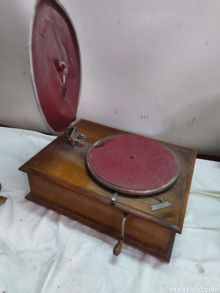 ESPECTACULAR GRAMÓFONO PATHE (Radios, Gramófonos, Grabadoras y Otros - Gramófonos y Gramolas)