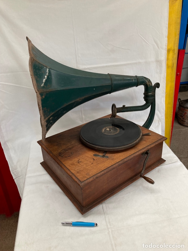 MUY ANTIGUO Y ORIGINAL GRAMOFONO PATHE!1910 (Radios, Gramófonos, Grabadoras y Otros - Gramófonos y Gramolas)
