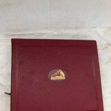 Grammofoni e gramolas: ALBUM CON 12 DISCOS PIZARA DE GRAMOFONO!. Lote 268877984