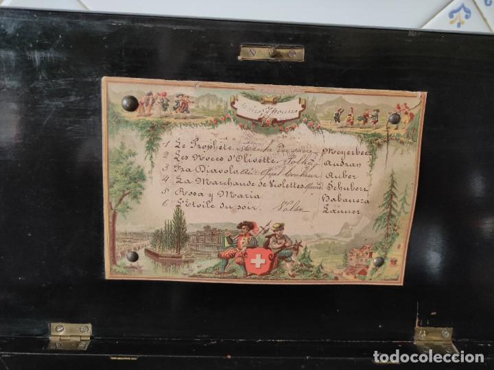 Gramófonos y gramolas: CAJA MUSICAL SUIZA DE CILINDRO SIGLO XIX -FUNCIONA - Foto 2 - 276272853