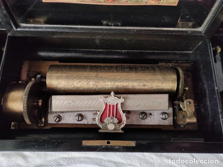 Gramófonos y gramolas: CAJA MUSICAL SUIZA DE CILINDRO SIGLO XIX -FUNCIONA - Foto 3 - 276272853