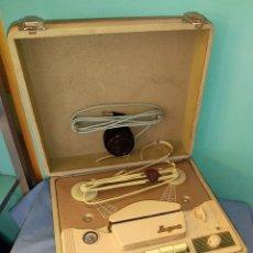 Gramófonos y gramolas: ANTIGUO MAGNETOFONO PORTATIL MARCA INGRA AÑOS 50. Lote 276680963