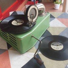Gramófonos y gramolas: ANTIGUO GRAMOFONO BING - JUNIOR + 1 DISCOS .GERMANY 1920. Lote 277430363