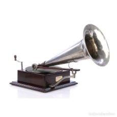 Gramófonos y gramolas: ANTIGUO Y MEGA RARO GRAMÓFONO BERLINER 4 CHOCOLATE. FRANCIA, 1902-1905. Lote 279520403