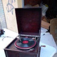 Gramophones: IMPRESIONANTE GRAMOLA DE MANIVELA PATÉ SIGLO XIX FUNCIONA. Lote 288567738