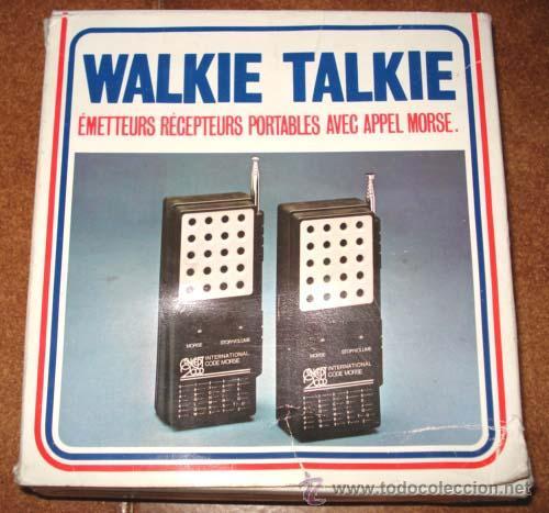ANTIGUOS WALKIE TALKIE - CONCEPT 2000 - EN SU CAJA, DE CONSERVACION. (Radios, Gramófonos, Grabadoras y Otros - Transistores, Pick-ups y Otros)
