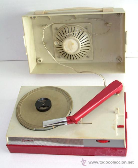 TOCADISCOS PHILIPS DE ÉPOCA, FUNCIONANDO (Radios, Gramófonos, Grabadoras y Otros - Transistores, Pick-ups y Otros)