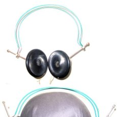 Radios antiguas: ANTIGUOS AURICULARES DE BAQUELITA. Lote 11776872