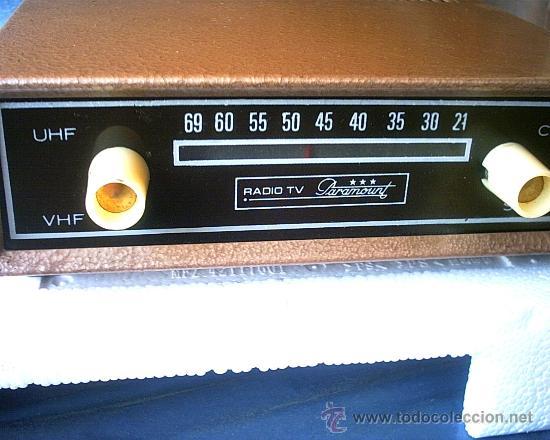 RADIO TV PARAMOUNT - SUPER REBAJADO (Radios, Gramófonos, Grabadoras y Otros - Transistores, Pick-ups y Otros)