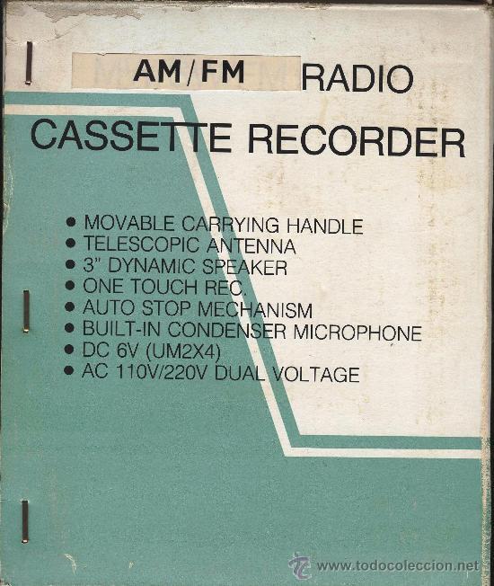 RADIO CASSETTE RECORDER MARCA NIPPON (Radios, Gramófonos, Grabadoras y Otros - Transistores, Pick-ups y Otros)