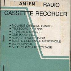 Radios antiguas: RADIO CASSETTE RECORDER MARCA NIPPON. Lote 23009768