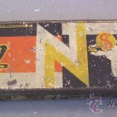 Radios antiguas: CAJA METALICA PARA PUAS / AGUJAS DE GRAMOFONO MARCA SEM (5 COMPARTAMIENTOS, 4X16CM APROX). Lote 31125362