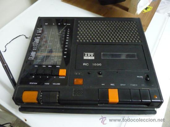 RADIO-CASSETTE ITT SHAUB-LORENZ 4 BANDAS M,L,K,U - AÑOS 70 (VER DETALLE) (Radios, Gramófonos, Grabadoras y Otros - Transistores, Pick-ups y Otros)