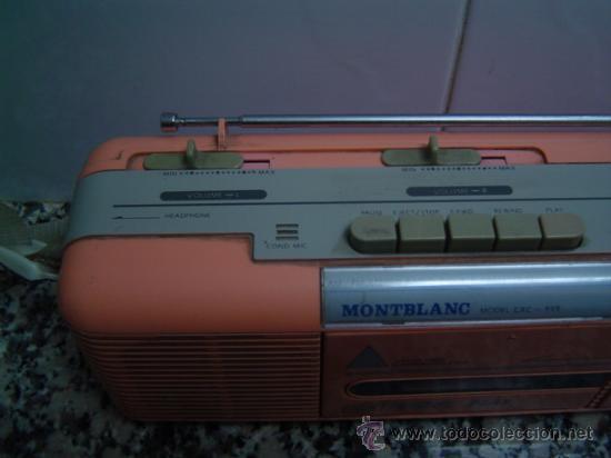 Radios antiguas: RADIO DOUBLE CASSETTE RECORDER MONTBLANC - Foto 2 - 17688609