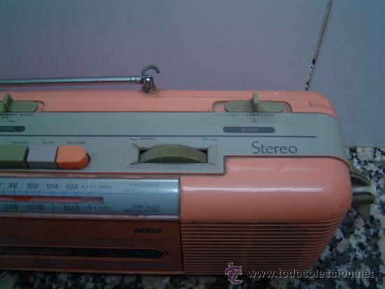 Radios antiguas: RADIO DOUBLE CASSETTE RECORDER MONTBLANC - Foto 4 - 17688609