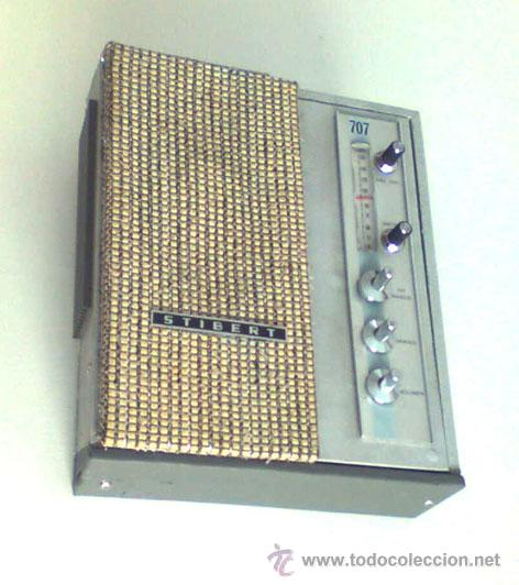 ANTIGUO RADIO STIBERT, FUNCIONANDO (Radios, Gramófonos, Grabadoras y Otros - Transistores, Pick-ups y Otros)