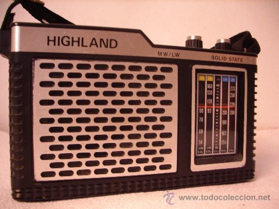 RADIO A TRANSISTORES HIIGHLAND (Radios, Gramófonos, Grabadoras y Otros - Transistores, Pick-ups y Otros)