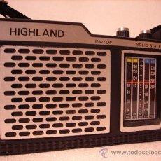 Radios antiguas: RADIO A TRANSISTORES HIIGHLAND. Lote 27524618