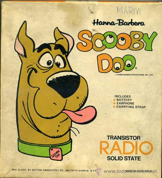 Radios antiguas: RADIO TRANSISTOR SCOOBY DOO (1973) - Foto 5 - 27637396