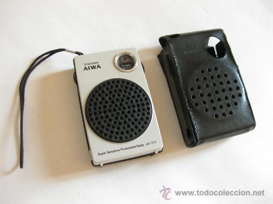 RADIO DE BOLSILLO MARCA AIWA AR - 777 (Radios, Gramófonos, Grabadoras y Otros - Transistores, Pick-ups y Otros)