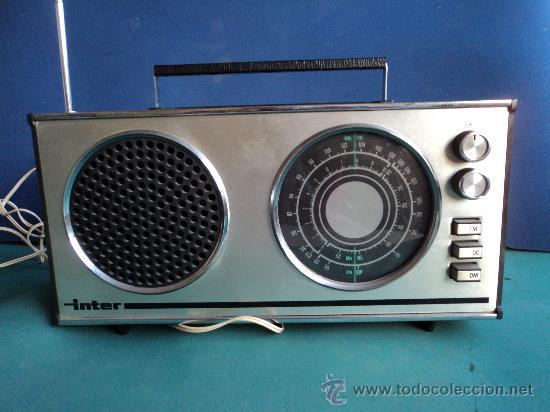 Radios antiguas: RADIO TRANSISTOR INTER EUROMODUL118/B - Foto 3 - 27235316