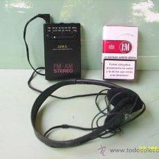 Radios antiguas: RADIO AIWA F.M Y A.M ESTEREO CON AURICULARES - FUNCIONA Y SUENA MUY BIEN - MADE IN KOREA. Lote 28317267