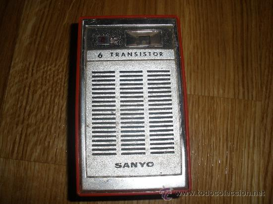 RADIO SANYO CON SU FUNDA (Radios, Gramófonos, Grabadoras y Otros - Transistores, Pick-ups y Otros)