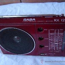 Radios antiguas: TRANSISTOR SABA RX 122. Lote 28704840