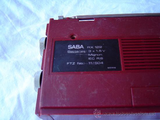 Radios antiguas: TRANSISTOR SABA RX 122 - Foto 3 - 28704840