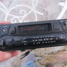 Radios antiguas: ANTIGUO RADIO CASETE DE COCHE KINDVOX AZIMUT, CON CARATULA EXTRIBLE Y DISPOSITIVO CD. Lote 29456057