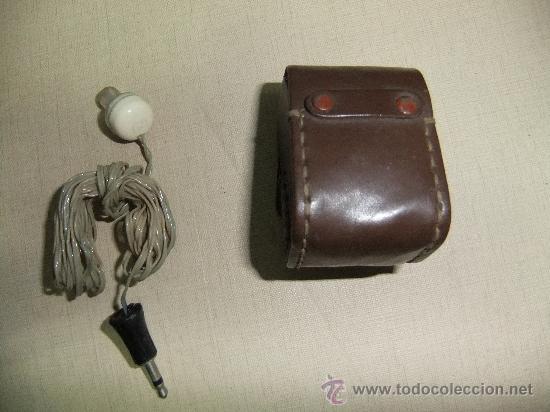 Radios antiguas: auricular de radio con su funda - Foto 2 - 62059307