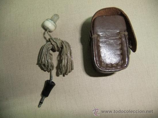 Radios antiguas: auricular de radio con su funda - Foto 3 - 62059307