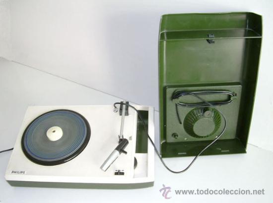 TOCADISCOS PHILIPS DE ÉPOCA, EN FUNCIONAMIENTO (Radios, Gramófonos, Grabadoras y Otros - Transistores, Pick-ups y Otros)