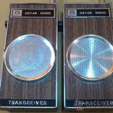 Radios antiguas: &-ANTIGUOS-TRANSISTORES(WALKIE-TALKIE).ASTAR-SONIC/TRANSCEIVER/TOKYO-JAPAN. Lote 30299781