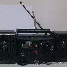 Radios antiguas: MINI RADIO COMPO PORTATIL FM/AM - SUNNY JAPAN (FUNCIONA A PILAS). Lote 31079484