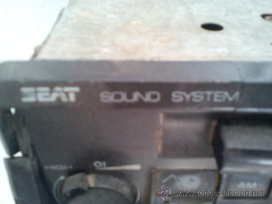 Radios antiguas: radiocassette de coche. marca seat. años 90.acm - Foto 2 - 31184028