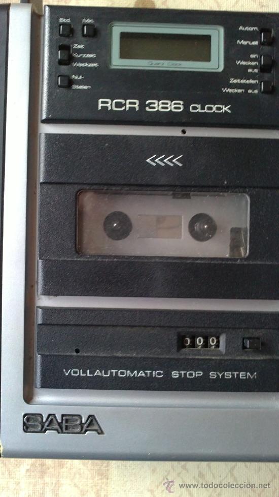 Radios antiguas: &-RADIO CASSETE- SABA-RCR 386.CLOCK(VOLLAUTOMATIC STOP SYSTEM) - Foto 5 - 225312715