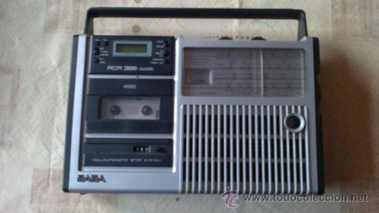 &-RADIO CASSETE- SABA-RCR 386.CLOCK(VOLLAUTOMATIC STOP SYSTEM) (Radios, Gramófonos, Grabadoras y Otros - Transistores, Pick-ups y Otros)