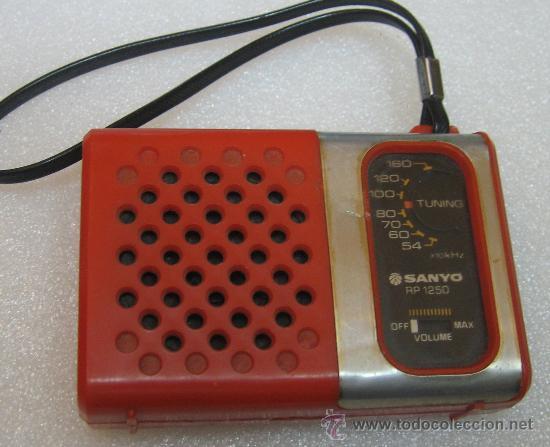 RADIO SANYO RP1250 NARANJA (Radios, Gramófonos, Grabadoras y Otros - Transistores, Pick-ups y Otros)