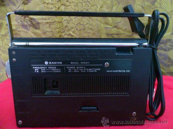 Radios antiguas: RADIO SANYO MODEL RP5311. FUNCIONA... - Foto 2 - 32538630